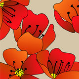 Art  floral background Stock Photo