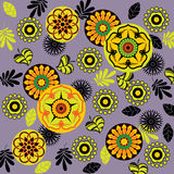 Art floral deco pattern background Stock Photo