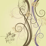 Art floral drawing background Stock Photo