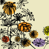 Art floral drawing graphic background Royalty Free Stock Photo
