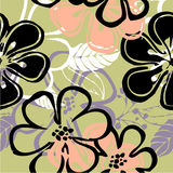 Art floral drawing graphic pattern Stock Photos