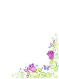 Art Floral frame, isolated background. Royalty Free Stock Photo