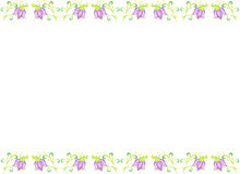 Art Floral frame, isolated background. Royalty Free Stock Image