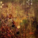 Art floral grunge background Stock Photography