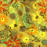 Art floral grunge background Royalty Free Stock Images