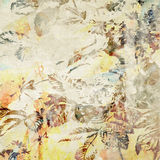 Art floral grunge background pattern Stock Photography