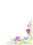 Art Floral-kader, geïsoleerde achtergrond Royalty-vrije Stock Foto