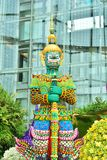 Art floral, mais un géant en Thaïlande Photo stock