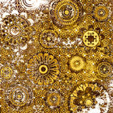 Art floral pattern. Art grunge floral aged background Stock Photos