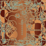 Art floral pattern Stock Photography