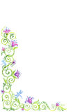 Art Floral-Rahmen, lokalisierter Hintergrund vektor abbildung