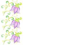 Art Floral ram, isolerad bakgrund Fotografering för Bildbyråer