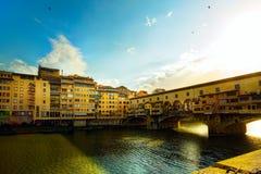 Art Florence Old stadgata; Italien royaltyfri foto
