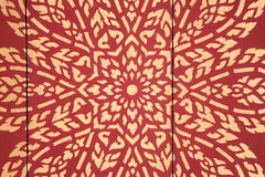 Art flourishes in Thailand, Thai pattern. Royalty Free Stock Photography