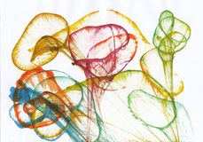 Art Flower Abstract Illustration de Vecteur
