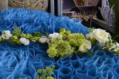 The art of flower arranging. VDNH Stock Photo