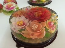 Colorful Art Flower Jelly Cake. Art flower Jelly cake.. Design with natural ingredients and delicious stock image