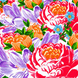 Art flower multicolored pattern Stock Photo