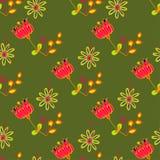 Art flower seamless pattern on the background Stock Photo