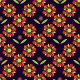 Art flower seamless pattern on the background Stock Photography