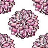 Art flower seamless pattern on the background Royalty Free Stock Photography