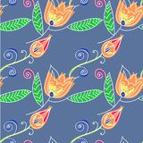 Art flower seamless pattern on the background Stock Images
