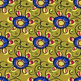 Art flower seamless pattern on the background Royalty Free Stock Photo