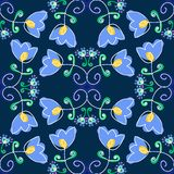 Art flower seamless pattern on the background Stock Image