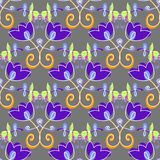 Art flower seamless pattern on the background Stock Photo