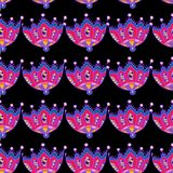 Art flower seamless pattern on the background Royalty Free Stock Images