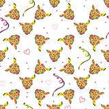 Art flower seamless pattern on the background Stock Photos