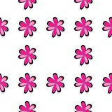 Art flower seamless pattern on the background Royalty Free Stock Photos