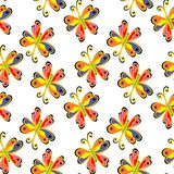 Art flower seamless pattern on the background Royalty Free Stock Image