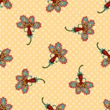 Art flower seamless pattern on the background. Stock Images