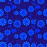 Art flowers. Seamless background with art flowers Stock Images