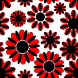 Art flowers. Seamless background with art flowers Stock Photo