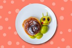 Art food for children royalty free stock photos