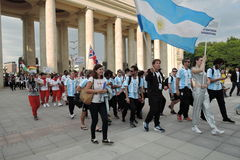 Art-football festival in Moscow. Team of Argentina Royalty Free Stock Photography