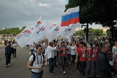 Art-football festival in Moscow. Team of Russia Stock Photography
