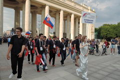Art-football festival in Moscow. Team of Slovakia Stock Image