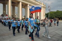 Art-football festival in Moscow. Team of Slovakia Royalty Free Stock Images