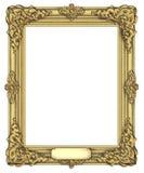 Art frame award. Isolated on white stock photos