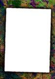 Art frame. Burned paper on artistic background with splats royalty free illustration
