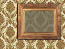 Art frame on paper. Art frame on pattern paper Royalty Free Stock Photo