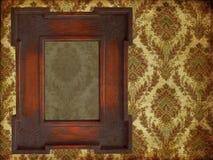 Art frame on paper. Art frame on pattern paper Royalty Free Stock Image