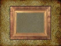 Art frame on paper. Art frame on pattern paper Royalty Free Stock Photos