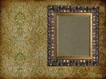 Art frame on paper. Art frame on pattern paper Royalty Free Stock Images