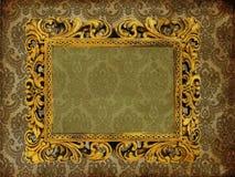 Art frame on paper. Art frame on pattern paper Stock Photos