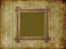 Art frame on pattern paper. Card Royalty Free Stock Photography