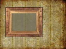 Art frame on pattern paper. Card Stock Photo